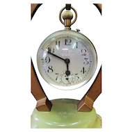 Hungarian Equestrian themed Bronze & Crystal Clock
