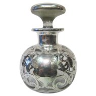 Vintage Sterling Silver Overlay Cologne Bottle