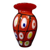Modern Continental Art Glass Vase