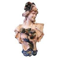 Vintage Art Nouveau Bust by Royal Dux