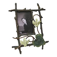 Vintage Vienna Bronze Photo Frame