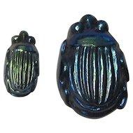 Vintage, Original Tiffany Studios Glass Scarabs (2)