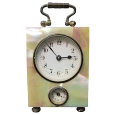 Vintage Miniature Mother of Pearl Carriage Clock