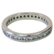 Vintage 20th Century Woman's Diamond & Platinum Eternity Band