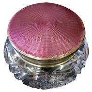 Vintage Sterling & Crystal Powder Jar
