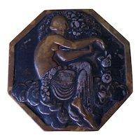 Vintage Pierre Turin Bronze Medallion