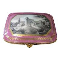 Vintage Continental Porcelain Trinket Box