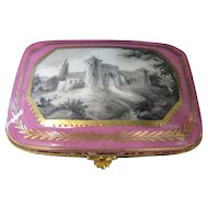 Vintage Continental Porcelain Trinket Box