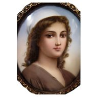 Vintage Late 19th Century Painting on Porcelain