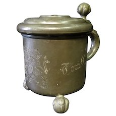 Vintage Swedish Pewter Stein