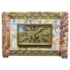 Vintage Marble Art Deco Mantle Clock