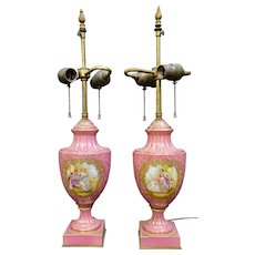 Vintage Pair of Sevres Lamps