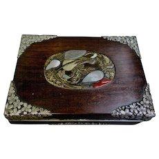Vintage Japanese late 19th Century Mahogany Trinket Box