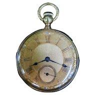 "Vintage 18K Gold Elgin ""Veritas"" Pocket Watch"
