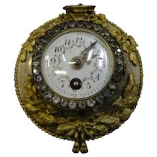 Vintage Late 19th Century French Boudoir Clock