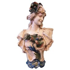 Vintage Art Nouveau Bust by Royal Dux