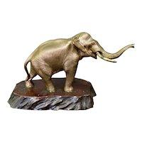 Vintage Early 20th Century Japanese Meiji Era Bronze Elephant