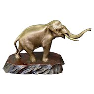 Vintage Early 20th Century Japanese Meiji Era Bronze Elephant