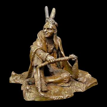 Vintage American Indian Bronze, by Carl Kauba