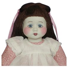 "Early 9"" Gail Wilson Duggan Porcelain Artist Doll 1984"