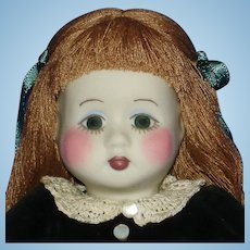 "Early 8.5"" Gail Wilson Duggan Porcelain Artist Doll 1984"
