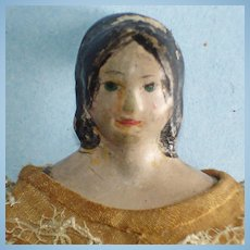 "5.5"" Fancy Hairdo Milliner's Model Paper Mache 1850s-on"