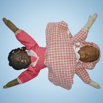 Bruckner Topsy Turvy Cloth Doll As Is 1901-on