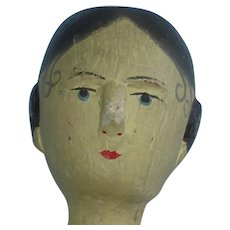 "13"" Carved Jointed Peg Wooden Doll Grodnertal Type"