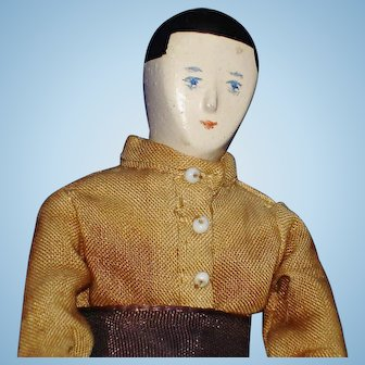 "4.5"" House of the Seven Gables Boy Doll PK Shillaber Unusual"