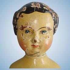 "14"" American Springfield Wooden Doll c1873-on Joel Ellis"