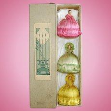 Rare Anri Wooden Novelty Dolls in Christmas Box Italy c1925