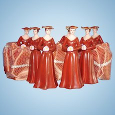 7 Vintage Cake Topper Bridesmaids 1970s