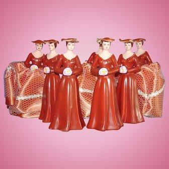 7 Vintage Cake Topper Bridesmaids 1970s