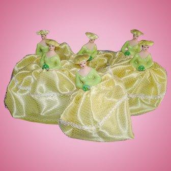 6 Vintage Cake Topper Bridesmaids 1970s