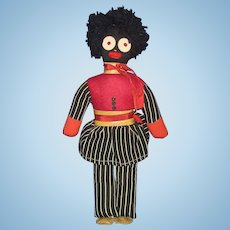 "12"" VIntage Golliwog Character Cloth Doll"