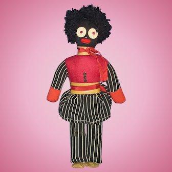 "12"" VIntage Golliwog Character Cloth Doll"