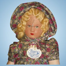 Unusual Pomsons Elizabeth Cloth Doll England 1920's-on As Is