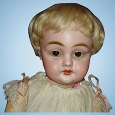 "11"" Kestner Character Bisque Head Doll Germany 1909-on As Is"