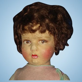 """17"""" Felt Character Doll To Restore Europe 1925-on"""