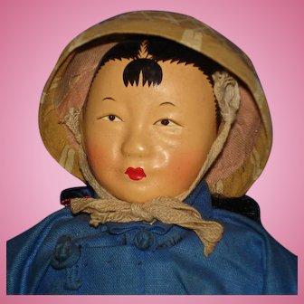 Sampan Chinese Character Doll Hong Kong 1940s-on