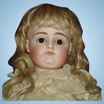 """13.5"""" Very Pouty CM Kestner Bisque Head #8 Germany 1880s"""
