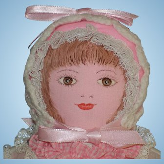 Moravian Polly Heckewelder Cloth Benefit Doll 1960's-on