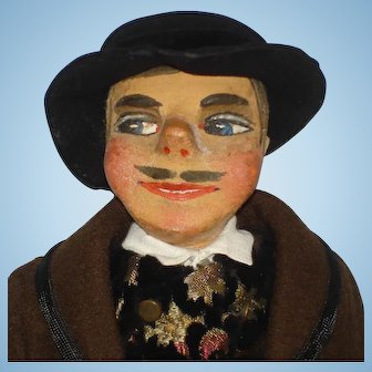 Male Art Doll in Ethnic Costuming Germany c1913-on