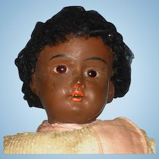 "11"" Brown Bisque Head 201 Brown Bisque Headed Doll Germany 1900's-on To Restore"