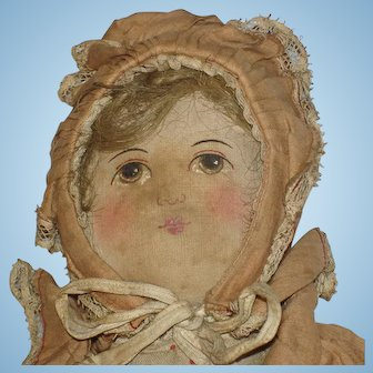 Painted Face Baby Land Rag Doll Horsman c1904-on
