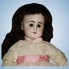 """Early White Bisque Head 9.5"""" Doll with 2 Square Upper Teeth Germany 1880's-on"""