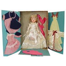"14"" Mona Lisa Trousseau HPW Valentine Doll in Box 1950s"