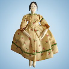 "4.5"" House of 7 Gables Peg Wooden Doll 1950s-on"