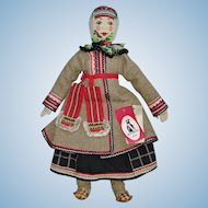 "21"" Russian Alexandra Artist Cloth Doll Moscow Sasha Kukinova 1980s-on"