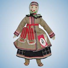 "21"" Russian Alexandra Artist Cloth Doll Moscow Sasha Kukinova 1980s-on"